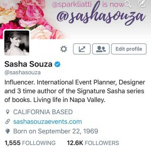 sasha souza events influencer