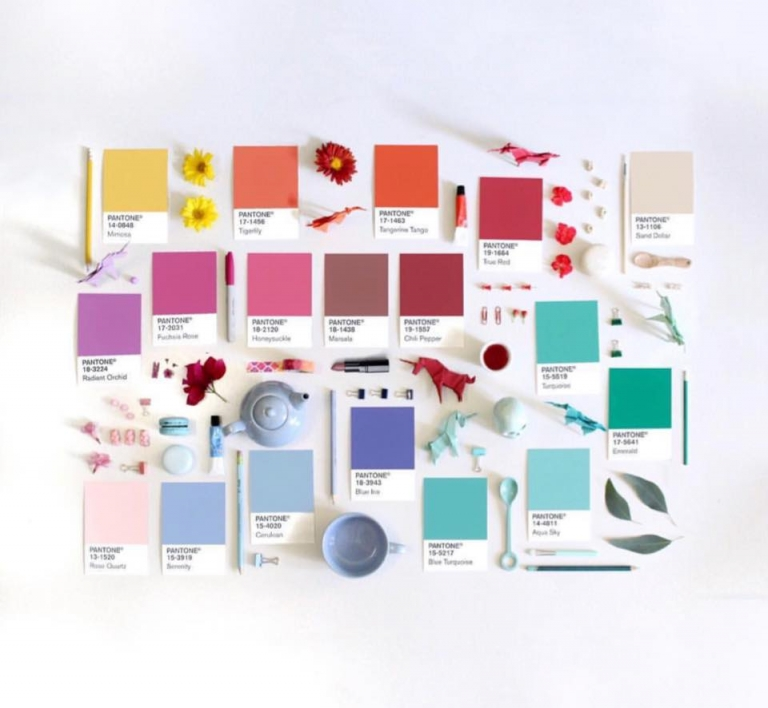 16 pantone colors of the year