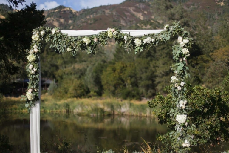 calistoga wedding designer garden party